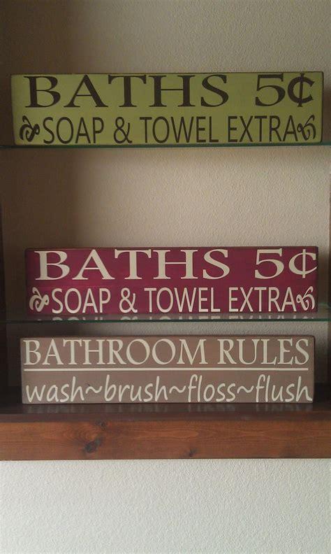 bathroom sign diy inspiration bathroom pinterest