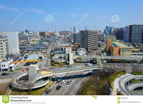 Cityscape Of Niigata In Japan Editorial Photography