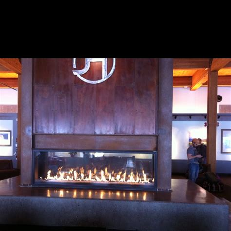fireplace   airport jackson hole wy nomad