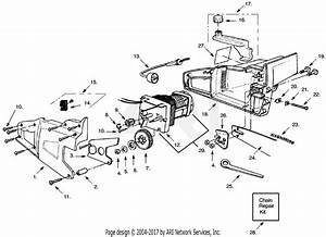 Poulan 1420 Electric Saw Type 1 Parts Diagram For Chain