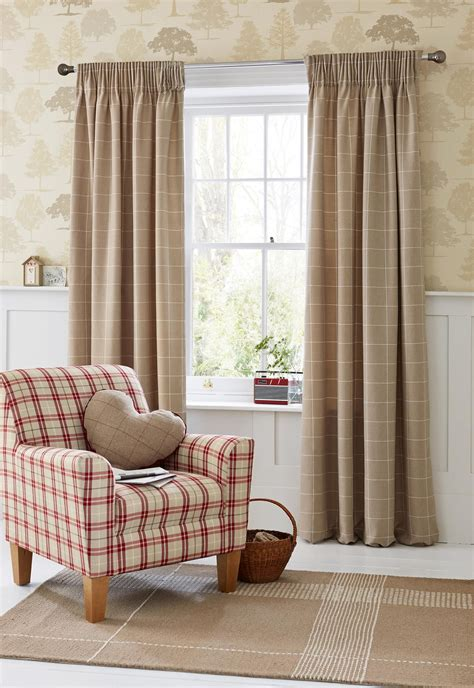 Where To Buy Living Room Curtains by Buy Homely Check Pencil Pleat Curtains From The