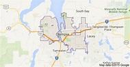 Map of Olympia, WA | Washington map, Map