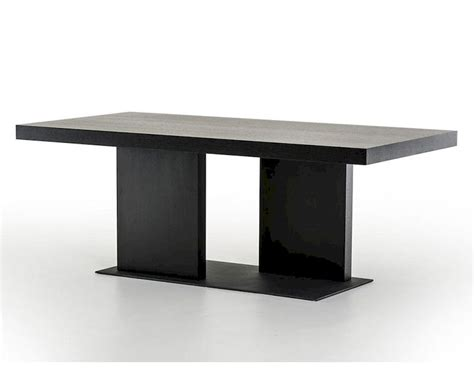 black table restaurant contemporary black oak dining table 44d190t blk