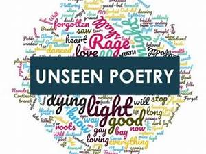 Gcse English Literature Paper 2 Unseen Poetry Revision