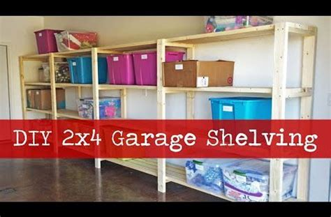 ana white build  easy economical garage shelving