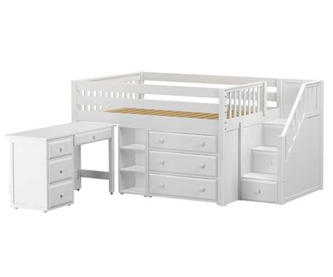low loft bed with desk and storage 1000 ideas about size storage bed on