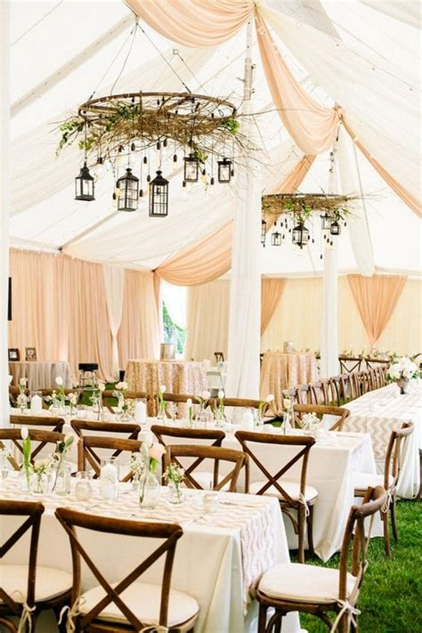 30 chic wedding tent decoration ideas deer pearl flowers