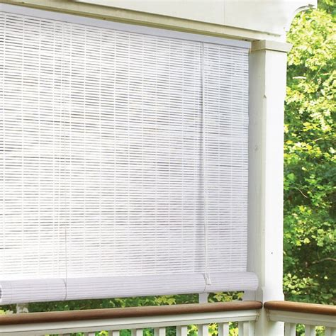 radiance vinyl pvc indoor outdoor roll up blind at hayneedle