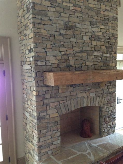 Stacked Slate Fireplace Home Design