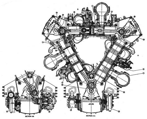Deltic Engine Cross Section
