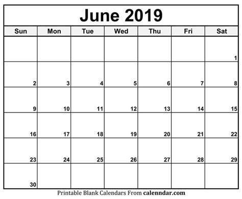 june  calendar blank template june calendar