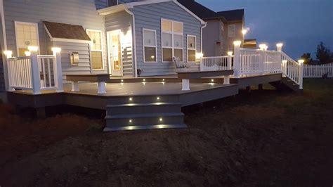 deckscom timbertech deck lighting benches picture