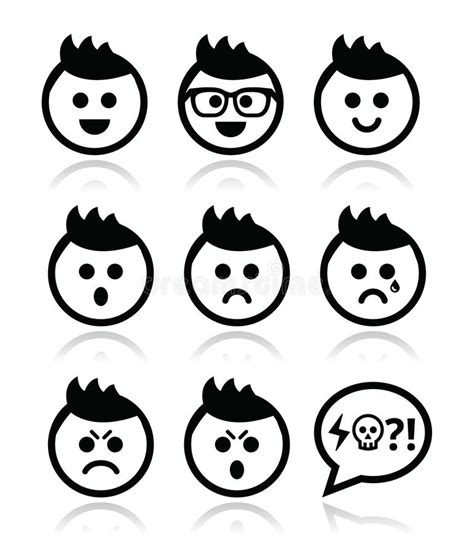 Download film the yin yang master sub indo / nonto. Man Or Boy With Spiky Hair Faces Icons Set Stock Images - Image: 34417744