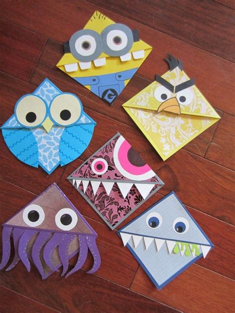 easy crafts    sell google paper craft pinterest monster bookmark