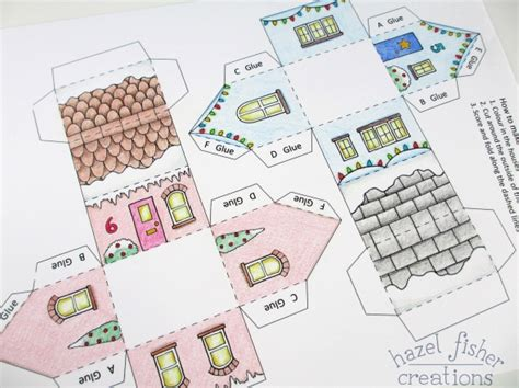 Make Your Own Advent Calendar Template by Hazel Fisher Creations Printable Colour In Advent