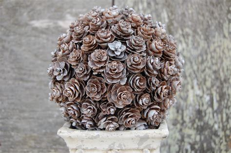 Pine Cone Topiary  Somewhat Simple