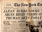 The New York Times, newspaper, Sunday, September 2,1945 ...