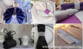 pliage serviettes mariage pliage des serviettes une présentation originale