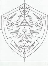 Shield Zelda Template Hylian Deviantart Coloring Legend Tattoo Geschichte Cosplay Sword Colouring Ausmalbilder Ideen Hyrule Adult Blueprint Princess Orig11 Mehr sketch template