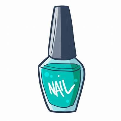 Nail Polish Vector Bottles Illustrations Clip Painting