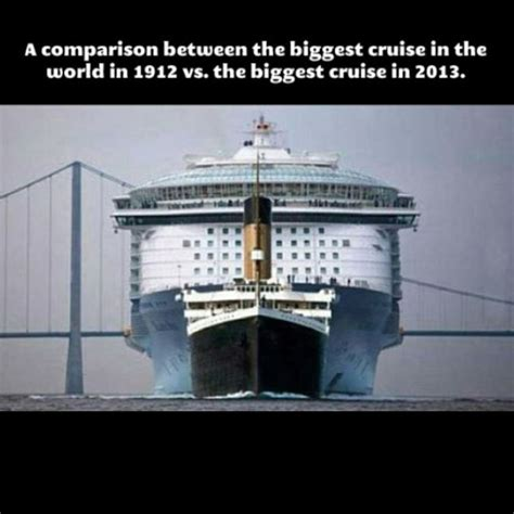 titanic scale to modern ships research contextual information rms titanic thinglink