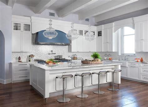 kitchen with glass tile backsplash white kitchen with silver iridescent glass backsplash