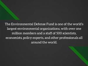 What is the Environmental Defense Fund