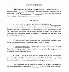12 consulting agreement templates free sample example for Consultation agreement template