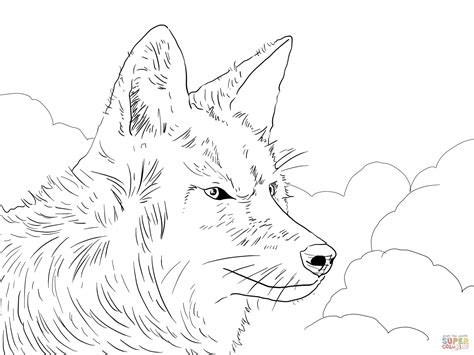Pin Howling Wolf Coloring Pages On Pinterest