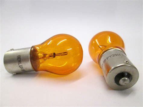 12v 21w Bau15s Amber Indicator Car Bulbs (off Set Pins