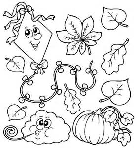 Kids Fall Printable Coloring Pages