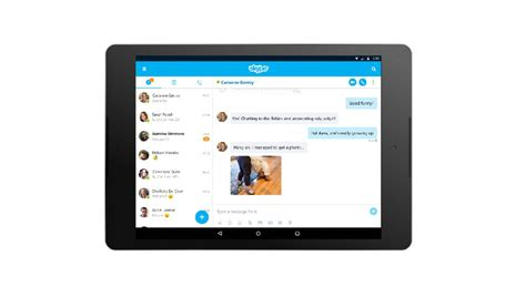 skype for android tablet skype gains a refreshed interface and new features on