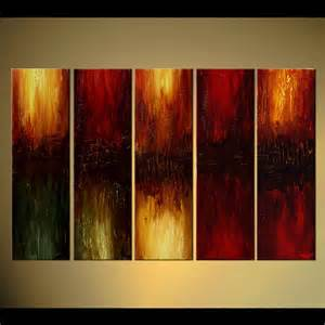 abstract painting large home decor painting multi panel 5838