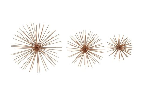 5,000 brands of furniture, lighting, cookware, and. Industrial Arts Starburst Wall Sculptures in Copper (Set of 3) | Stars wall decor, Starburst ...