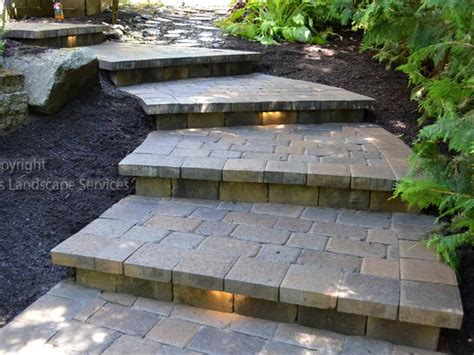 patio pavers steps modern patio outdoor