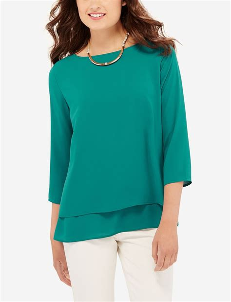 looking blouse layered blouse a layered design adds a flutter to