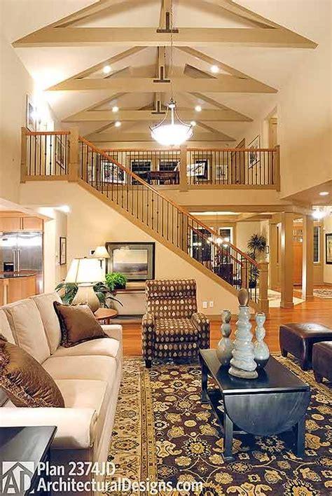 plan jd  bed rambler  vaulted great room loft floor plans house plan  loft