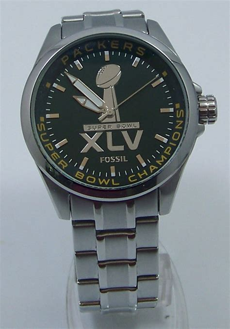 Fossil Green Bay Packers Super Bowl Xlv 45 Championship