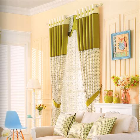 chic multi color polka dots button curtains for room