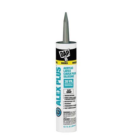 grey caulk dap alex plus 10 1 oz gray slate acrylic latex caulk plus silicone 12 pack 7079818118 the