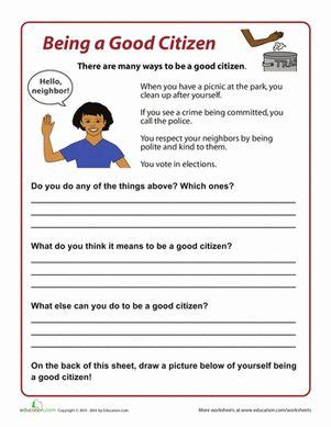 how to be a good citizen for kids exles and kid