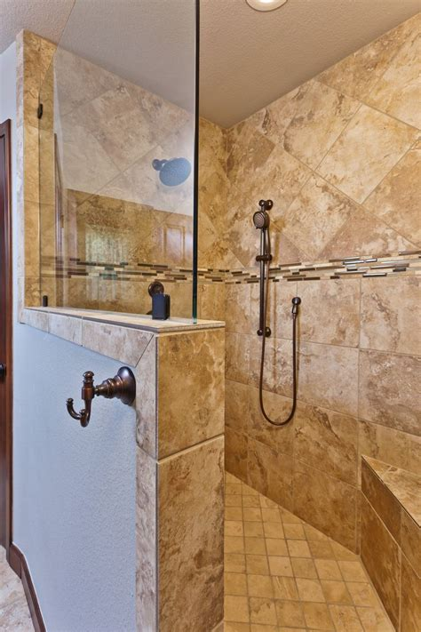 kalinowski master bath remodel beautiful walk  shower