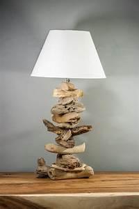 Lampe Chevet Bois Flotté : lampe poser en bois flott naturel ~ Teatrodelosmanantiales.com Idées de Décoration