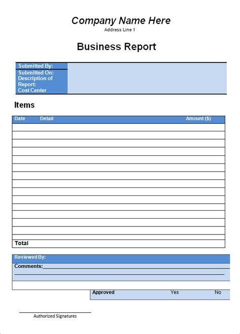 business report template 19 sle business report templates sle templates