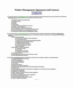 7 management contract templates free sample example With logging contract template