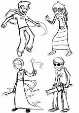 Homestuck Coloring Larger Printablecolouringpages Credit sketch template