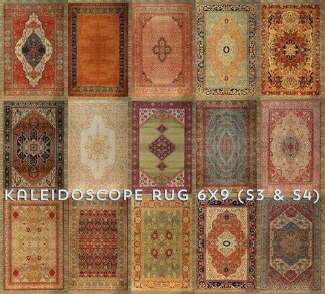 kaleidoscope large rug  baufive bstudio sims  updates