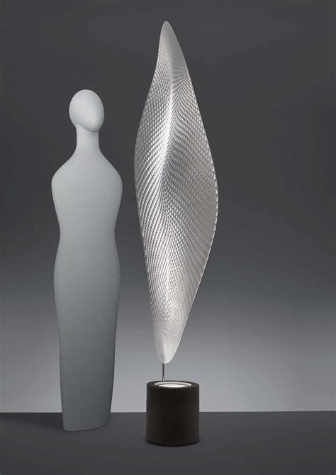 floor lamp cosmic leaf  artemide greytransparent   design uk
