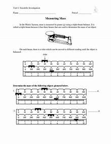 Reading Triple Beam Balance Worksheet - Taylorgangclothingline