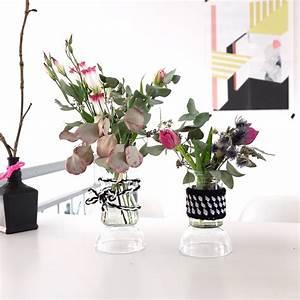 Deko Für Vasen : do it yourself blumen vasen dekoration aus wolle sophiagaleria ~ Indierocktalk.com Haus und Dekorationen